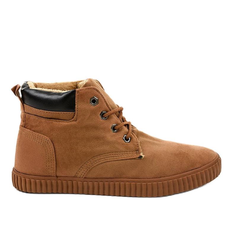 Sneakers homme isolés marron AN06 brun