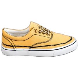 Bestelle jaune Baskets à la mode