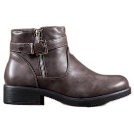 Abloom Bottes grises avec cuir écologique
