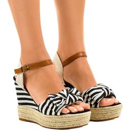 Sandales de mariniste compensées Espadrilles Blue Sea