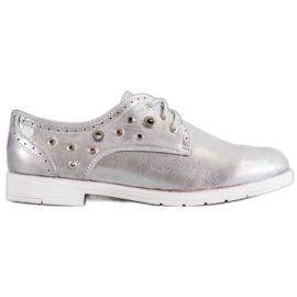SHELOVET gris Chaussures nouées avec cuir écologique