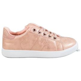 SHELOVET rose Sneakers Avec Brocade