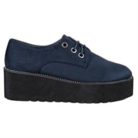 SHELOVET bleu Chaussures en daim sur la plateforme