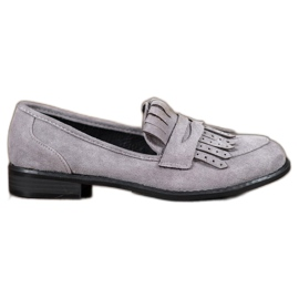 SHELOVET Mocassins À Franges gris