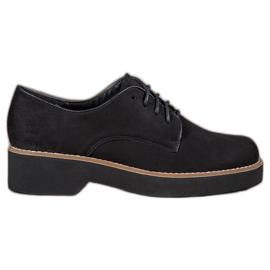 SHELOVET Chaussures en daim noires