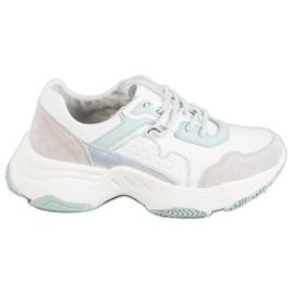 Vinceza Chaussures de sport à lacets gris