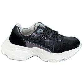 Vinceza Chaussures de sport à lacets noir