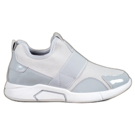 Ideal Shoes gris Slip-on Fashion Sneakers