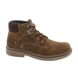 Brun Chaussures de trekking en cuir American Club CY37