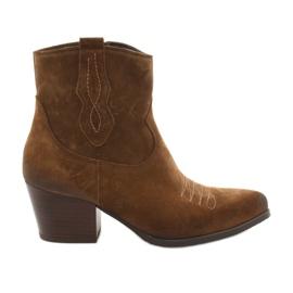 Bottes de cowboy en daim Gamis 3837 brun