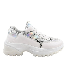Chaussures de sport blanches stylées 690051
