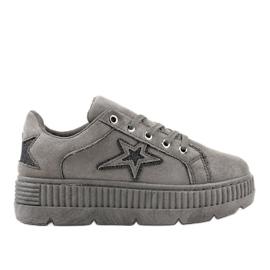 Sneakers grises pour femmes G8302-2