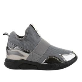 Chaussure de sport grise avec élastique SJ1836-3