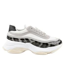 Chaussures de sport en serpent gris YY-02