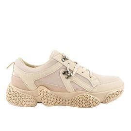 Chaussures de sport pour femmes à la mode beiges BD-5 brun
