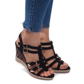 Sandales compensées 5H5671 Noir
