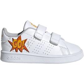Adidas Advantage I Jr EF0305 chaussures blanc