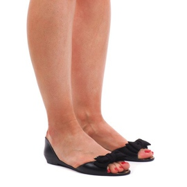 Meliski KM01 Sandales Noires