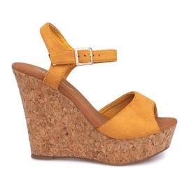 Sandales compensées Cork 5H5654 Jaune