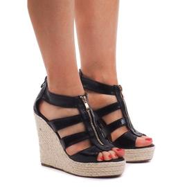 Sandales compensées 100-575 Noir