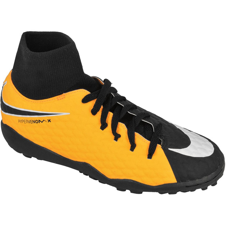 Chaussures de football Nike HypervenomX Phelon Iii Df Tf Jr 917775-801 jaune noir, jaune