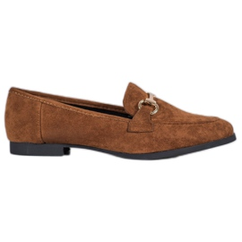 Mocassins en daim VICES brun