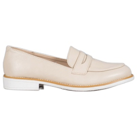 Mocassins VICES beige brun