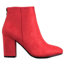VINCEZA Bottes Sexy rouge