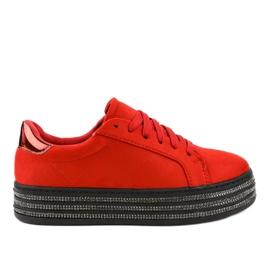 Baskets pour femmes décorées en rouge G280