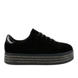 Baskets décorées noires pour femmes G280