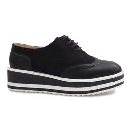 Chaussures à lacets Paulette noires