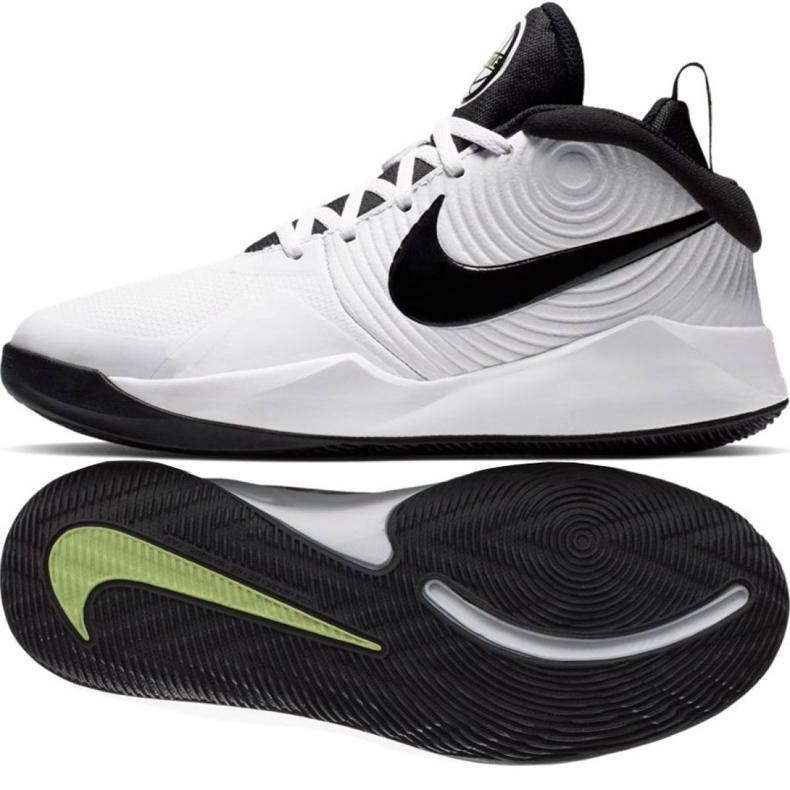 Chaussures Nike Team Hustle D 9 (GS) Jr AQ4224-100 blanc blanc
