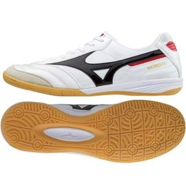 Mizuno Morelia In M chaussures d'intérieur Q1GA170009 blanc blanc