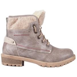 Goodin Pantalon à glissière gris