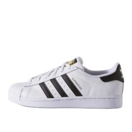 Chaussures Adidas Originals Superstar Fundation Jr C77154 blanc