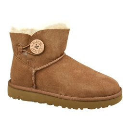 Chaussures Ugg Mini Bailey Button II L 1016422-CHE brun