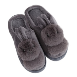Chaussons Femme Gris Lapin MA01 Gris