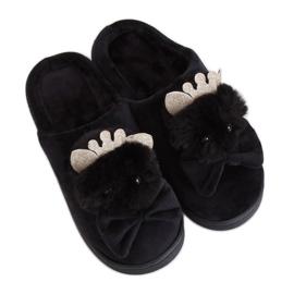 Pantoufles Femmes Noir DD112 Noir