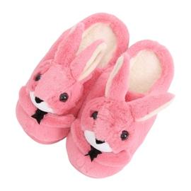 Chaussons femmes lapins rose foncé MA17 Rouge