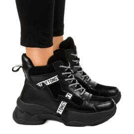 Sneakers femmes noires F803-7