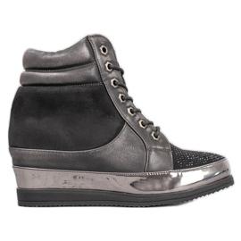 Sergio Leone Sneakers avec des cristaux noir