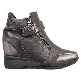 Sergio Leone Sneakers sur la fermeture éclair gris
