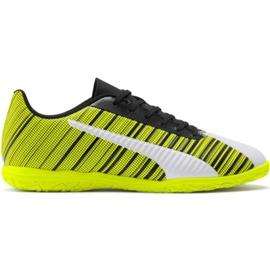 Puma One 5.4 It M 105654 04 chaussures de football jaune blanc, noir, jaune
