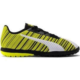 Puma One 5.4 Tt Jr 105662 03 chaussures de football blanc, noir, jaune jaune