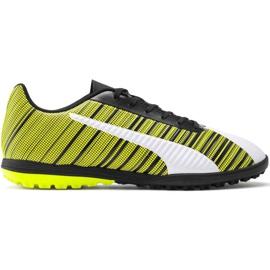 Puma One 5.4 Tt M 105653 03 chaussures de football blanc, noir, jaune jaune