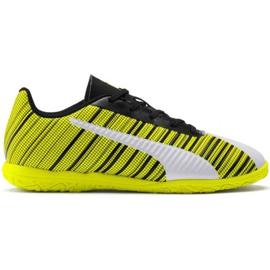 Puma One 5.4 It Jr 105664 04 chaussures de football blanc, noir, jaune jaune