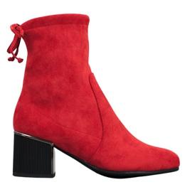 Goodin Bottes rouges élégantes