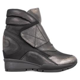Sergio Leone Baskets Velcro gris