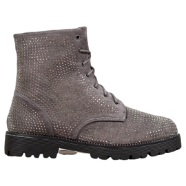 Sweet Shoes Bottines en daim grises
