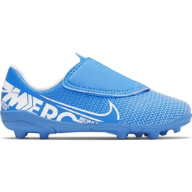 Chaussure de football Nike Mercurial Vapor 13 Club Mg PS (V) Jr AT8162 414 bleu bleu